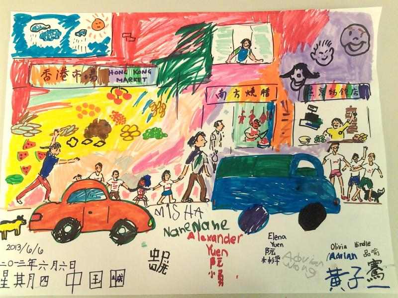 summer camp china town trip artwork by students
